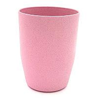 Стакан из пшеничной соломы Розовый 250 мл
