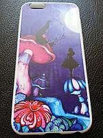 Тонкий силиконовый чехол с рисунком для Iphone 6