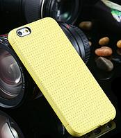Желтый силиконовый чехол для Iphone 6, фото 1
