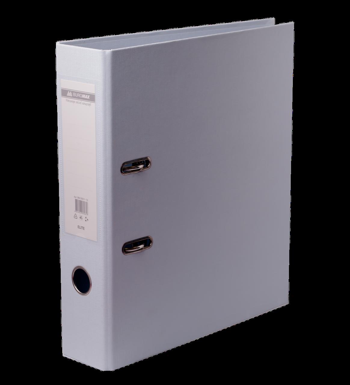 Папка регистратор ELITE двусторонняя A4, 70 мм, белая
