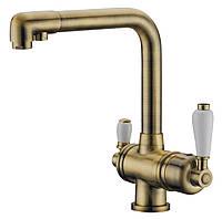 Смеситель для кухни с подключением фильтрованной воды 2 в 1 ELGHANSA Terrakotta Bronze 56A5740