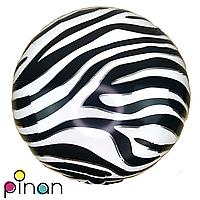 Фольгированный шар 18 Pinan Звериный принт зебра, 44 см