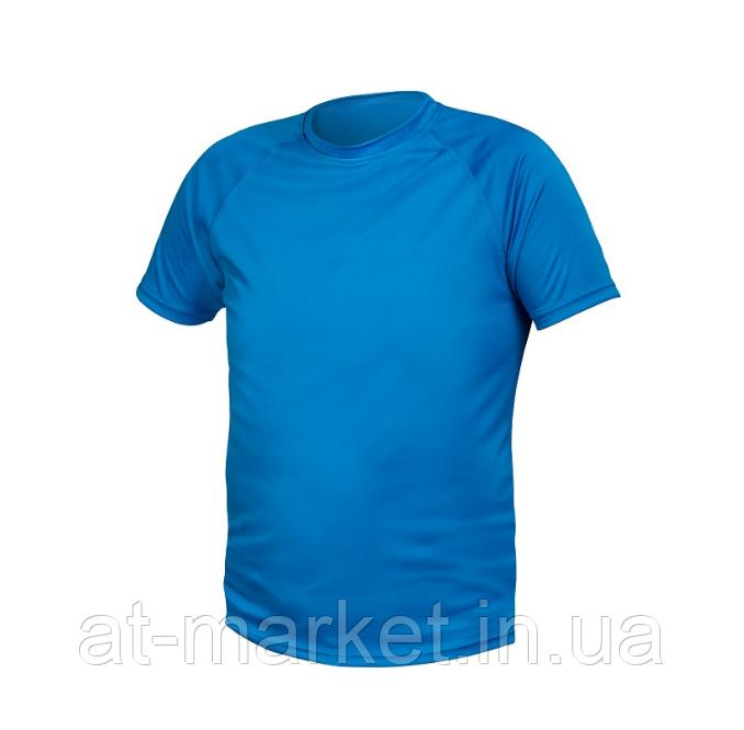 Футболка из полиэстера синяя, M HOEGERT HT5K400-M