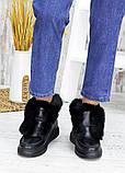 Полуботинки меховые черная кожа 7547-28, фото 3