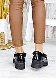 Зимние меховые туфли лак-кожа 7582-28, фото 7