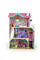 Кукольный домик игровой для барби AVKO Вилла Тоскана + лифт + кукла, фото 3
