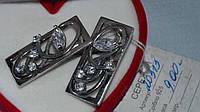 Серебряные серьги 925 пробы с чернением, фото 1