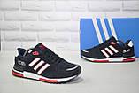 Чоловічі демісезонні кросівки натуральний замш сині стилі Adidas ZX 750, фото 2