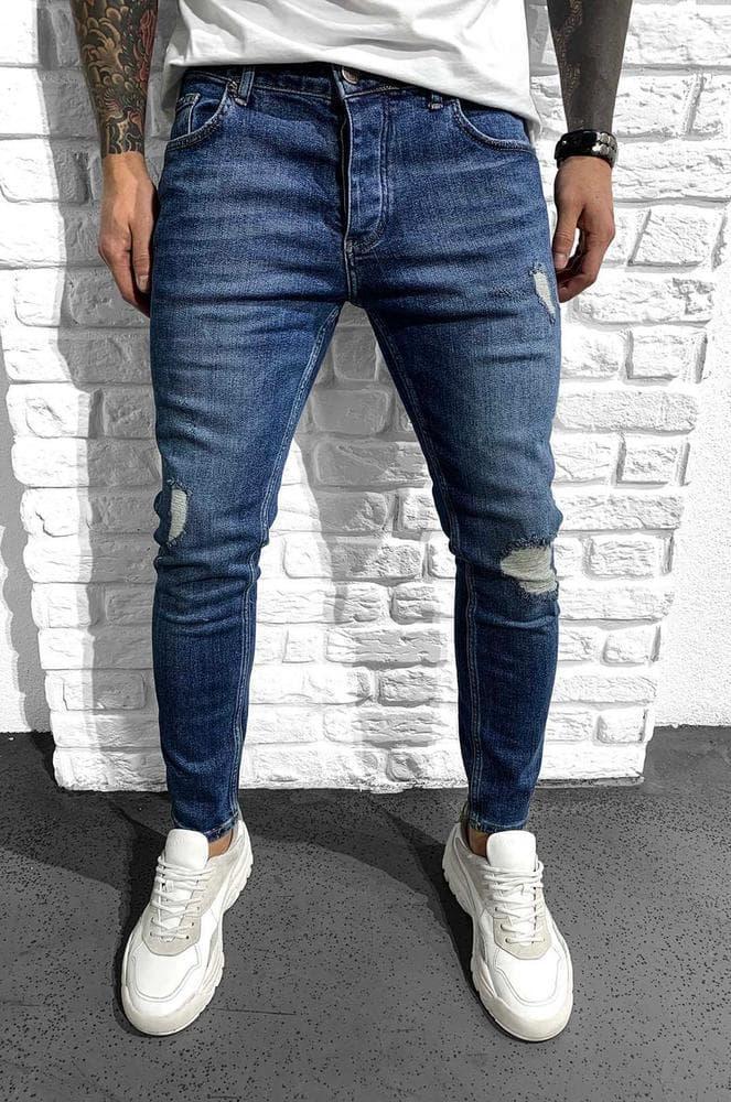 Чоловічі джинси cині Black Island 6203-3468