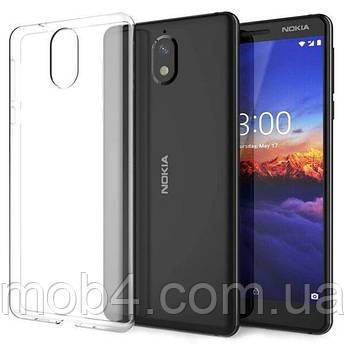 Силиконовый прозрачный чехол для Nokia (Нокиа) 3
