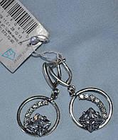 Серебряные серьги 925 пробы висюльки, фото 1