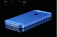 Силіконовий прозоро-блакитний чохол для Iphone 5/5S, фото 1