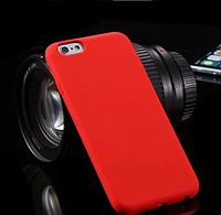 Силиконовый красный чехол для Iphone 6
