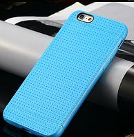 Голубой силиконовый чехол для Iphone 6, фото 1
