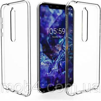 Силиконовый прозрачный чехол для Nokia (Нокиа) 5