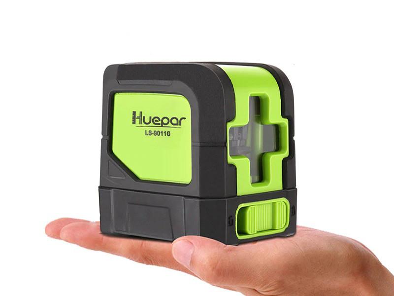 Лазерный уровень Huepar HP-9011G - нивелир с 2 диодами OSRAM, зелёные лучи