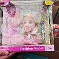 Кукла манекен для создания причесок DEFA 8056, в комплекте расческа и другие аксессуары (высота 17 см) 2 вида, фото 3