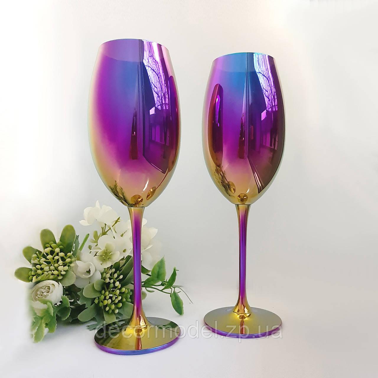 Набор бокалов для вина Bohemia Fulica 400 мл. радуга сияние
