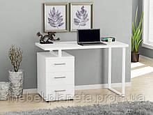"""Стол письменный белый в стиле лофт """"L-27"""" Loft Design"""