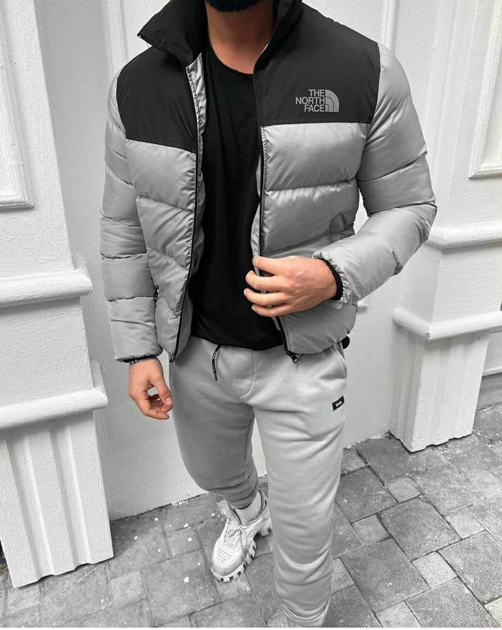 Мужская демисезонная куртка на синтепоне cерая