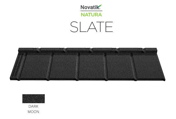 Композитна металочерепиця Novatrik Natura SLATE Кольору