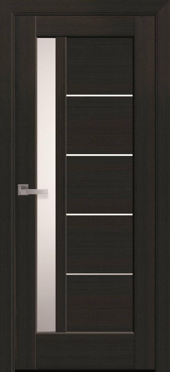 """Дверь межкомнатная """"Новый Стиль"""" модель Грета, венге (со стеклом)"""