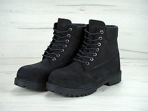 Женские ботинки Timberland Black (Мех)