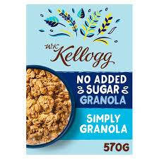 Kellogg No Added Sugar Plain 570g, фото 2