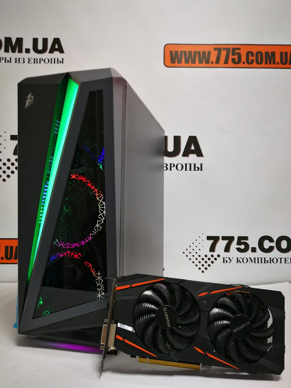 Игровой компьютер Intel Core i3-10100f 4.3GHz, RAM 8ГБ, SSD 120ГБ, HDD 500ГБ, RX 580 4ГБ