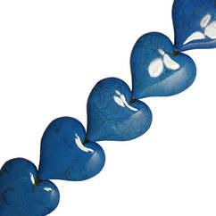 Бусины Кулоны Сердца Большие Голубые, Размер 32*35*8 мм, Отверстие 1,5 мм, Рукоделие, Фурнитура