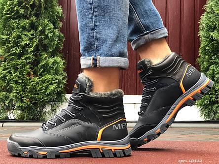 Кожаные зимние мужские ботинки Merrell, черные, фото 2