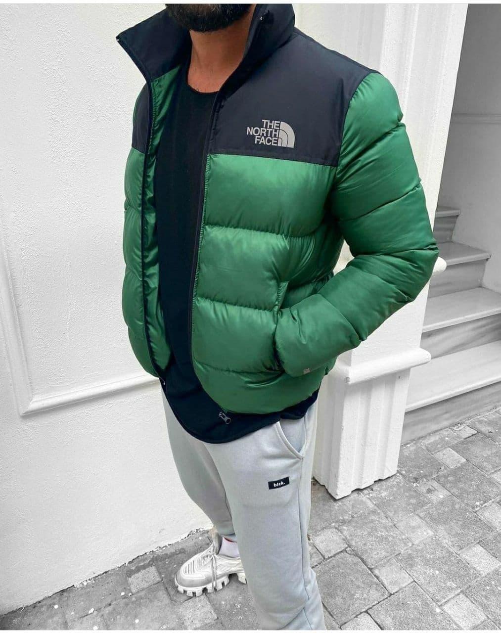 Мужская демисезонная куртка на синтепоне зеленая