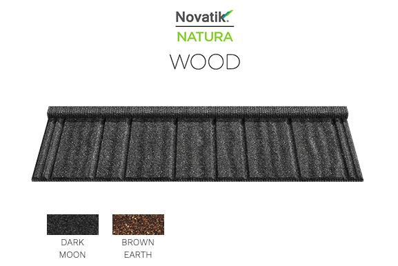 Композитная металлочерепица Novatrik Natura WOOD Цвета
