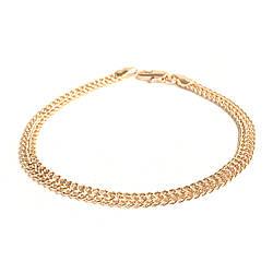 """Браслет """"Королевский бисмарк"""" SONATA из медицинского золота, позолота РО, 52057 (19 см)"""