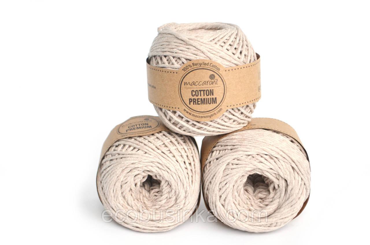 Эко шнур Maccaroni Cotton Premium, 2-3мм