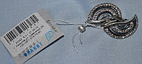 Серебрянный набор ( серьги + кольцо) 925 пробы