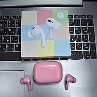 Беспроводные сенсорные блютуз наушники цветныеPRO Macaroon Розовые