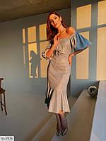Женское люрексовое нарядное платье-трансформер, фото 1