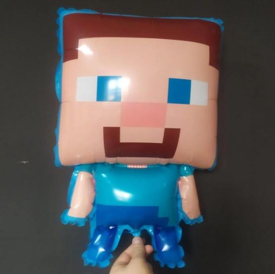 Фольгированный шар большая фигура Minecraft Майнкрафт 66х42см Китай