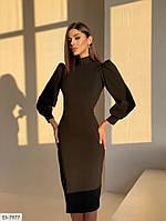 Женское шикарное облегающее платье миди с разрезом сзади, фото 1