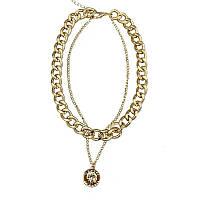 Стильное двойное  ожерелье с подвеской