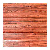 Декоративная 3D панель самоклейка под красное дерево 700x770x5мм, фото 2