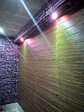 Декоративна 3D панель самоклейка під цеглу фіолетовий Катеринославський 700х770х5мм, фото 3
