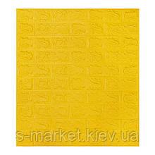 Декоративна 3D панель самоклейка під цеглу Жовтий 700х770х5мм