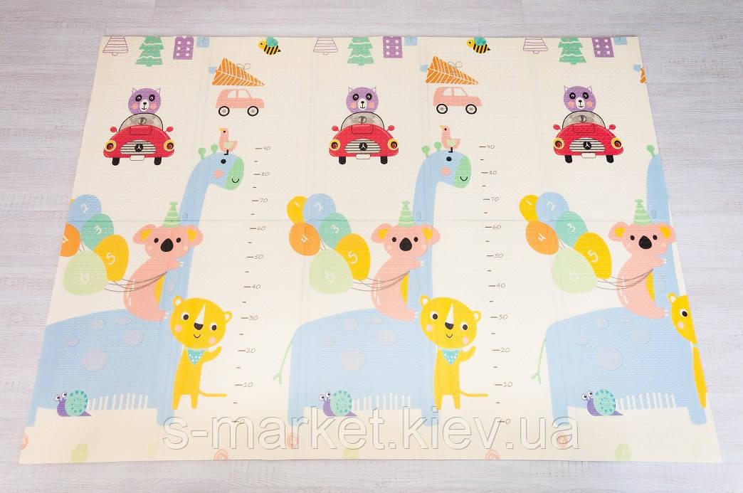 """Килимок розвиваючий дитячий термо килимок  """"Зростомір - Пегас"""" 150*200*1см"""