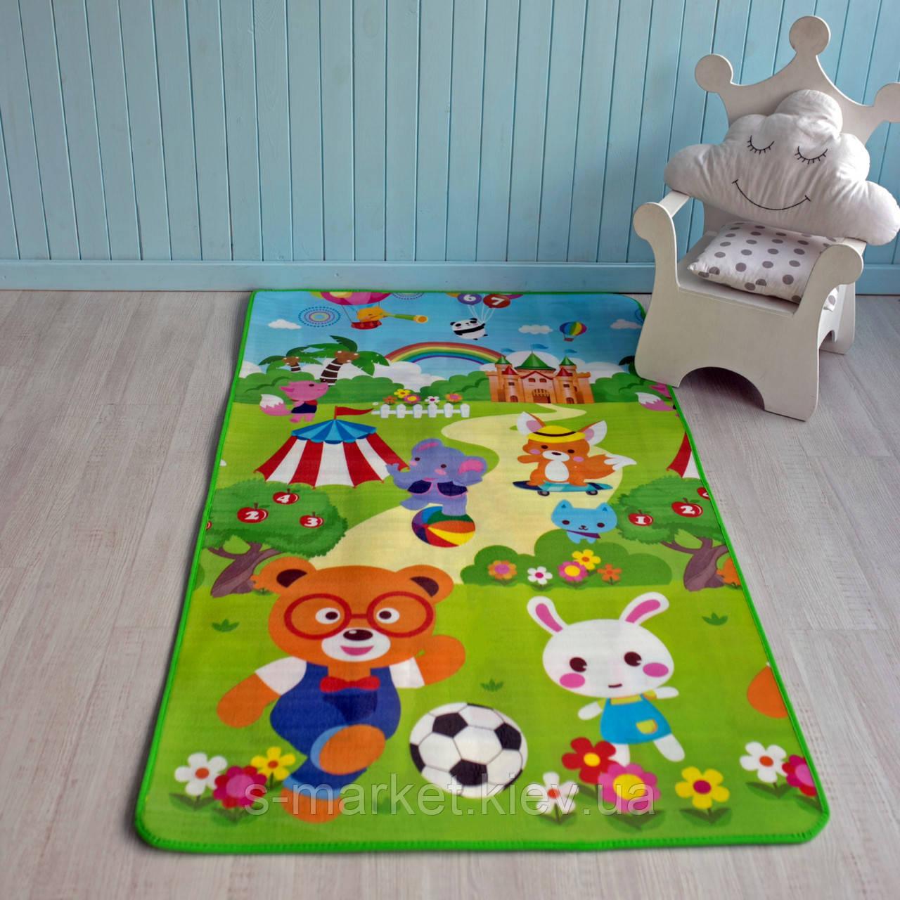 """Дитячий килимок розвиваючий термо """"Футбол + Животные"""""""