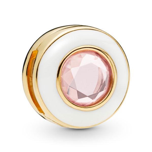 Пандора Клипса Мерцающий белый круг Reflex Shine Pandora 767891NPO