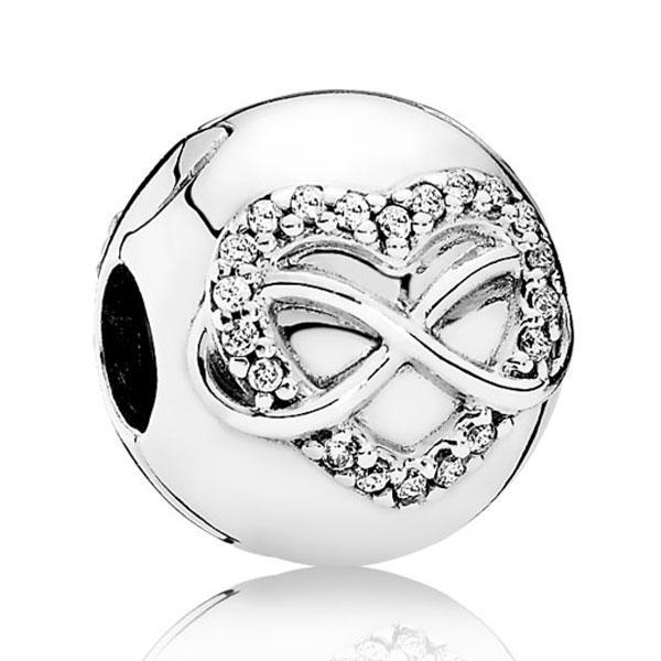 Пандора Клипса с сердцем и символом бесконечности Pandora 791947CZ