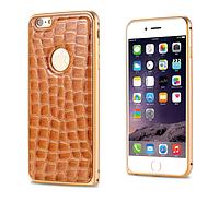2 в 1 ― чехол и бампер для Iphone 6 рыже-золотой