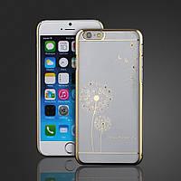 УЦЕНКА!!! Чехол SWAROVSKI Dandelion Clear Gold для Iphone 6/6s